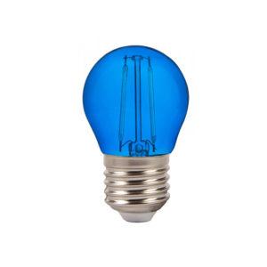 LED Λάμπα E27 G45 2W Filament V-TAC Samsung Chip Μπλε - 7412