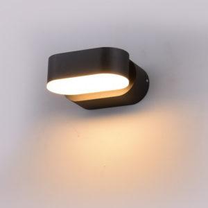 LED Φωτιστικό Τοίχου Περιστρεφόμενο 6W V-TAC Μαύρο Αδιάβροχο IP65 SMD Φυσικό Λευκό 4000Κ - 8289