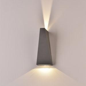LED Φωτιστικό Τοίχου 6W V-TAC Γκρι Αδιάβροχο IP65 SMD Φυσικό Λευκό 4000Κ - 8300