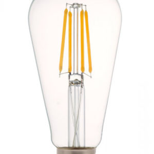 LED Λάμπα E27 ST64 4W Filament Clear Cover Samsung Chip V-TAC Dimmable Θερμό Λευκό 2700K - 7414