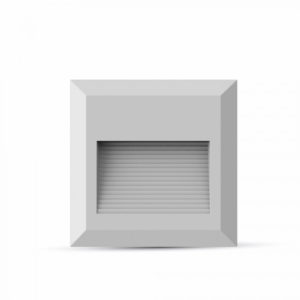 Επιτοίχιο Φωτιστικό LED για Σκαλοπάτια 2W V-TAC Λευκό Τετράγωνο Αδιάβροχο IP65 Θερμό Λευκό 3000K - 1321