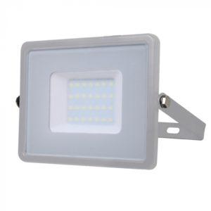 LED Προβολέας 30W V-TAC Samsung Chip Γκρι Αδιάβροχος IP65 Φυσικό Λευκό 4000K - 455