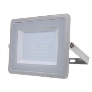 LED Προβολέας 100W V-TAC Samsung Chip Γκρι Αδιάβροχος IP65 Ψυχρό Λευκό 6400K - 474
