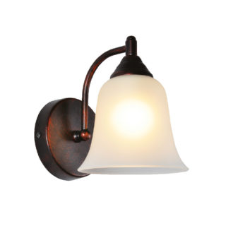Φωτιστικό Απλίκα Τοίχου E27 Μεταλλικό Μαύρο-Χάλκινο ACA - AD80081W