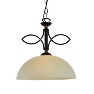 Κρεμαστό Φωτιστικό Οροφής Μονόφωτο E27 Ø360 Μεταλλικό Σκούρο Καφέ ACA - AD89061