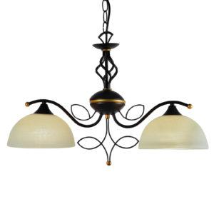 Κρεμαστό Φωτιστικό Οροφής 2xE27 Μεταλλικό Σκούρο Καφέ ACA - AD89062