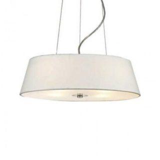 Κρεμαστό Φωτιστικό Οροφής 4xE27 ø450 Γυαλί-Ύφασμα Λευκό ACA - DL607D