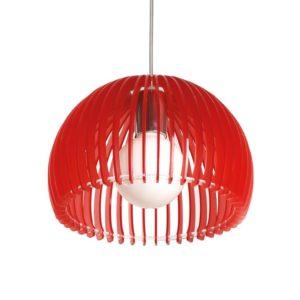 Κρεμαστό Φωτιστικό Οροφής E27 Ø260 Ακρυλικό Κόκκινο ACA - V286531P28RD