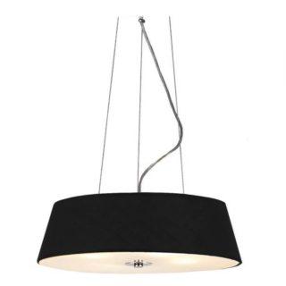 Κρεμαστό Φωτιστικό Οροφής 4xE27 ø450 Γυαλί-Ύφασμα Μαύρο ACA - DL607B