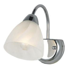 Φωτιστικό Απλίκα Τοίχου E14 Μεταλλικό Χρώμιο-Λευκό ACA - DLX7391W