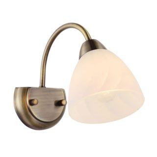 Φωτιστικό Απλίκα Τοίχου E14 Μεταλλικό Μπρονζέ-Λευκό ACA - DLX7391WBR