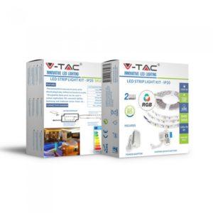 Σετ Εύκαμπτης Ταινίας LED 10W V-TAC IP20 Πολύχρωμη RGB - 2558