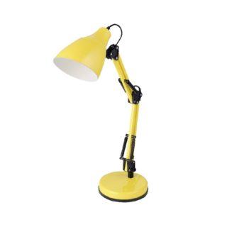 Επιτραπέζιο Φωτιστικό Γραφείου E27 Μέταλλο-Πλαστικό Κίτρινο ACA - 2918YW