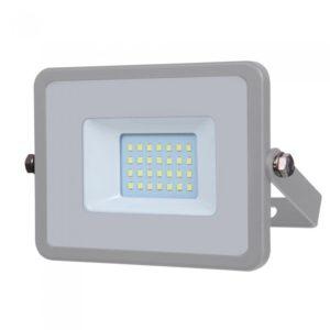 LED Προβολέας 20W V-TAC Samsung Chip Γκρι Αδιάβροχος IP65 Θερμό Λευκό 3000K - 445