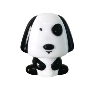 LED Λαμπάκι Νυκτός Σκυλάκι 0.4W Πλαστικό Μαύρο Ψυχρό Λευκό 6000K ACA - 82204LEDBK