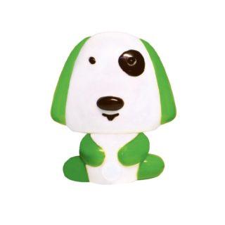 LED Λαμπάκι Νυκτός Σκυλάκι 0.4W Πλαστικό Πράσινο Ψυχρό Λευκό 6000K ACA - 82204LEDGN