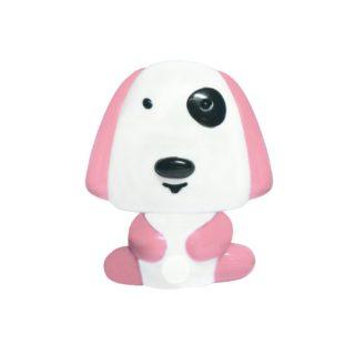 LED Λαμπάκι Νυκτός Σκυλάκι 0.4W Πλαστικό Ροζ Ψυχρό Λευκό 6000K ACA - 82204LEDPK