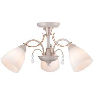 Φωτιστικό Οροφής 3xE14 Ø540 Μέταλλο-Γυαλί-Κρύσταλλο Λευκό-Χρυσό ACA - DLA12123