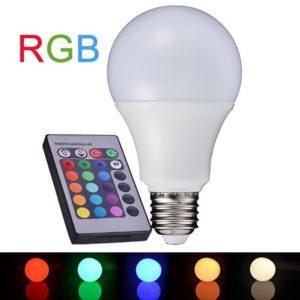 LED Λάμπα E27 A60 8W Diolamp RGB με Τηλεχειριστήριο Dimmable Θερμό Λευκό 3000K – A608RGBW