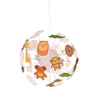 Παιδικό Φωτιστικό Οροφής με Ζωάκια 4xE14 Ø350 Πλαστικό-MDF-Ακρυλικό Πολύχρωμο ACA - MD160224ZOO
