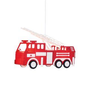 Παιδικό Φωτιστικό Οροφής με Πυροσβεστικό Όχημα 2xE27 Πλαστικό-Μεταλλικό Κόκκινο-Λευκό-Μαύρο ACA - MD160232A