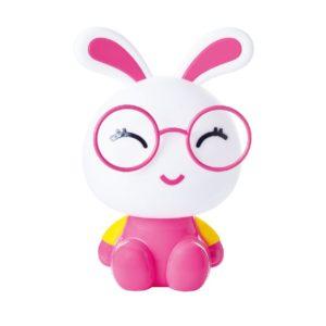 Επιτραπέζιο Παιδικό Φωτιστικό Κουνελάκι E14 Πλαστικό Ροζ ACA - MT150331P