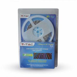Σετ Εύκαμπτης Ταινίας LED 9.6W V-TAC Αδιάβροχη IP65 Ψυχρό Λευκό 6000K - 2356
