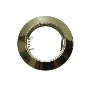 Βάση Σποτ GU10 - MR16 ACA Χωνευτή Στρογγυλή Σταθερή Χρυσή - AC.0451042G