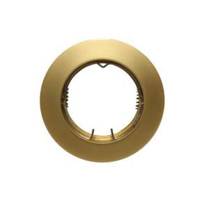 Βάση Σποτ GU10 - MR16 ACA Χωνευτή Στρογγυλή Σταθερή Χρυσό Περλέ - AC.0451042PG