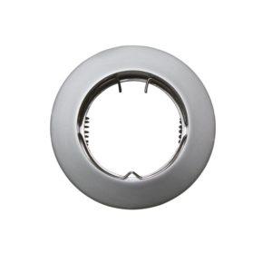 Βάση Σποτ GU10 - MR16 ACA Χωνευτή Στρογγυλή Σταθερή Ασημί Περλέ - AC.0451042PS