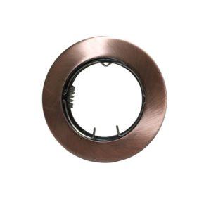 Βάση Σποτ GU10 - MR16 ACA Χωνευτή Στρογγυλή Σταθερή Χάλκινη - AC.0451042RA