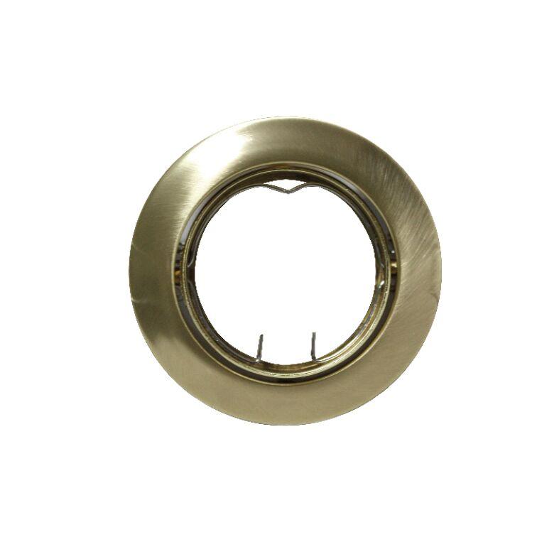 Βάση Σποτ GU10 - MR16 ACA Χωνευτή Στρογγυλή Ρυθμιζόμενη Χρυσή Ματ - AC.0453254GM