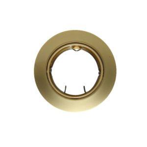 Βάση Σποτ GU10 - MR16 ACA Χωνευτή Στρογγυλή Ρυθμιζόμενη Χρυσό Περλέ - AC.0453254PG