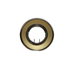 Βάση Σποτ MR11 ACA Χωνευτή Στρογγυλή Ρυθμιζόμενη Χρυσό-Ασημί Περλέ - AC.04532GPG