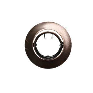 Βάση Σποτ MR11 ACA Χωνευτή Στρογγυλή Ρυθμιζόμενη Χάλκινη - AC.04532RAB