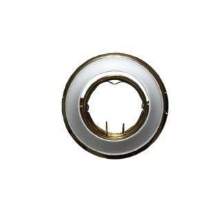 Βάση Σποτ MR11 ACA Χωνευτή Στρογγυλή Ρυθμιζόμενη Ασημί-Χρυσό Περλέ - AC.04532SPS