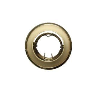 Βάση Σποτ MR11 ACA Χωνευτή Στρογγυλή Ρυθμιζόμενη Χρυσό Περλέ - BS3259GPG