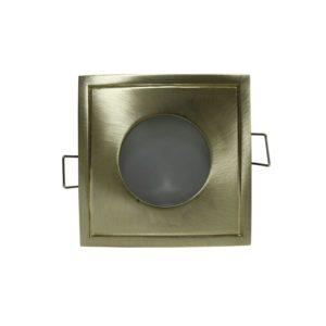 Βάση Σποτ GU10 - MR16 ACA Χωνευτή Τετράγωνη Σταθερή Χρυσό Ματ - BS3406GM