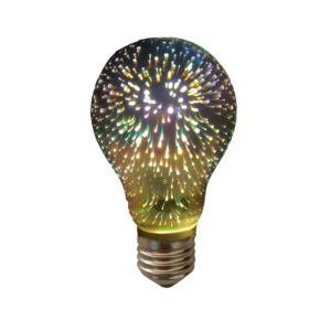 LED Λάμπα 3D E27 A10 4W Dimmable Diolamp θερμό Λευκό 2700K – VINTADIM3D