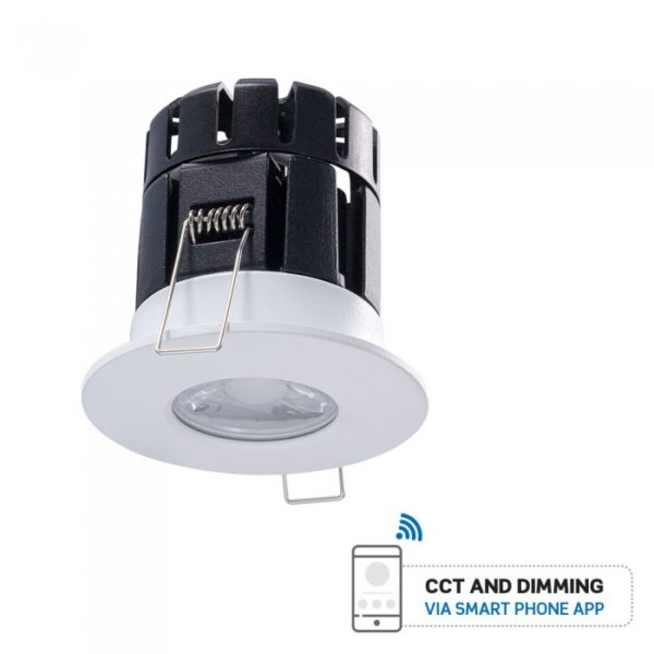 LED Φωτιστικό Οροφής Smart Χωνευτό Πυρίμαχο 10W V-TAC Ø65mm Στρογγυλό με Εναλλαγή Χρωμάτων Dimmable - 1424