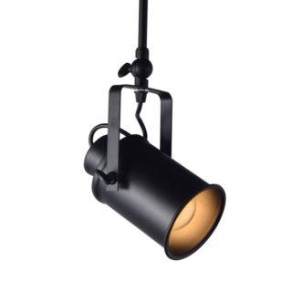 Φωτιστικό Οροφής 1xE27 Ø90 Μέταλλο Μαύρο Ματ ACA - OD61011BK