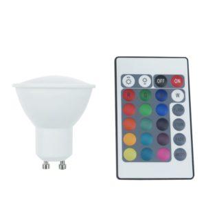 LED SPOT Λάμπα GU10 4W 230V Diolamp Πολύχρωμη RGB - GU104RGBW