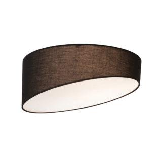 Φωτιστικό Οροφής Πλαφονιέρα 3xE27 Ø400 Υφασμάτινο Καπέλο Μαύρο ACA - AD8030BK